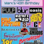 Mark's 40th Birthday Party Invitation
