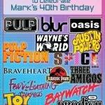 Mark's 40th Birthday Party Invitation